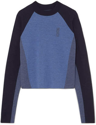 LNDR - Snug Color-block Merino Wool Sweater - Midnight blue