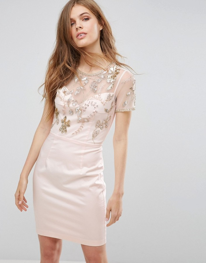 French Connection Horizon Embellished Dress