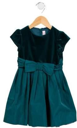 Il Gufo Girls' Velvet-Paneled A-Line Dress
