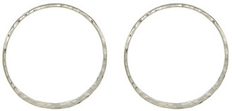 Argento Vivo Textured Hoop Earrings $40 thestylecure.com