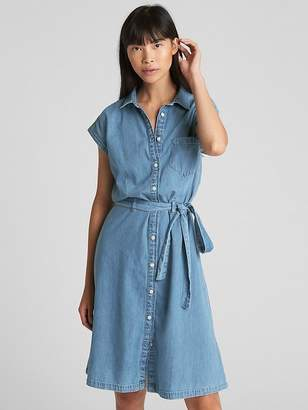 Gap Tie-Belt Denim Shirtdress