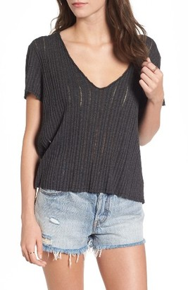 Women's Pst By Project Social T Ribbed Tee $39 thestylecure.com