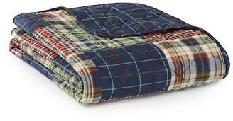 Eddie Bauer Madrona Blue Quilted Throw Bedding