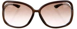 Tom Ford Square Gradient Sunglasses
