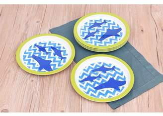 Mainstays Boys Shark Melamine Dinner Plate Set, 6-Pack