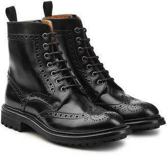 Church's Angelina Leather Ankle Boots with Brogue Detailing