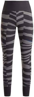 adidas by Stella McCartney Train Miracle tiger stripe-print leggings