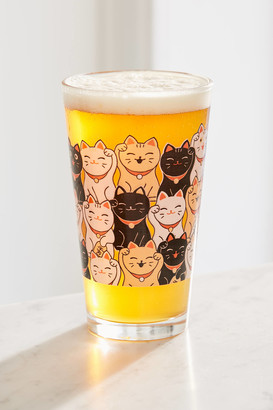 Urban Outfitters Fortune Cat Pint Glass