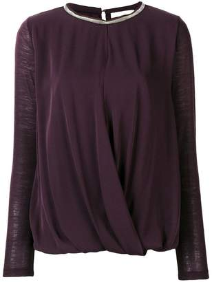 Fabiana Filippi long-sleeve draped top
