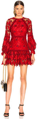 Alexis Fransisca Lace Dress in Scarlet Lace | FWRD