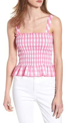 Ten Sixty Sherman Gingham Smocked Tank