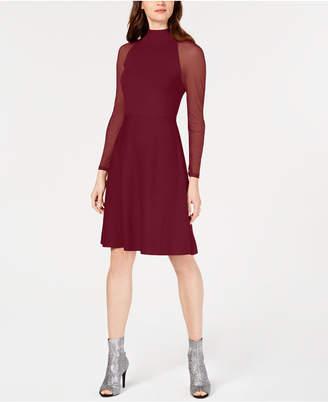 INC International Concepts I.n.c. Illusion-Sleeve Sweater Dress