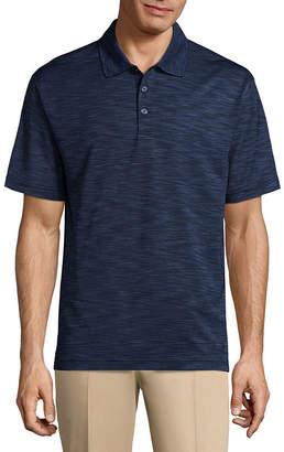 Haggar Short Sleeve Plaid Knit Polo Shirt