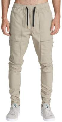 ITALY MORN Men's Chino Cargo Tapered Casual Pants S