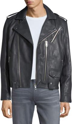 Joe's Jeans Men's Novus Zip-Front Leather Moto Jacket