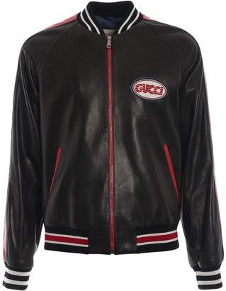 Gucci Leather Bomber