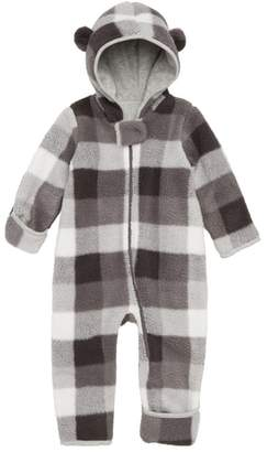 Nordstrom Check Fleece Hooded Bunting