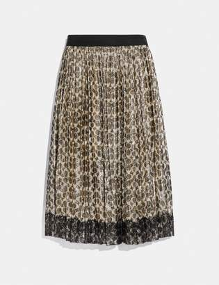Coach Metallic Pleated Skirt