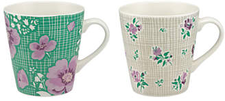Cath Kidston Henley Bloom Stanley Mini Mugs, Assorted, 300ml, Set of 2
