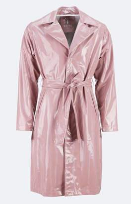 Rains Woodrose Holographic Overcoat - XS - Pink