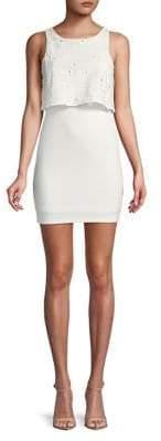 BCBGeneration Sleeveless Twofer Overlay Mini Dress