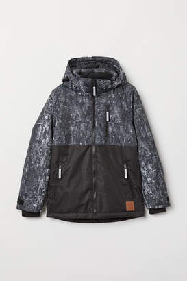 H&M Water-repellent Padded Jacket - Black