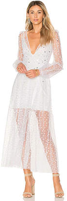 For Love & Lemons All That Glitters Maxi Dress in White $334 thestylecure.com