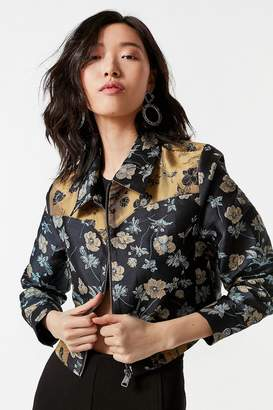 Urban Outfitters Western Colorblock Floral Gas Jacket