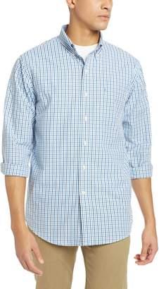 Izod Men's Premium Essential Check Long Sleeve Shirt (Big Tall Slim)