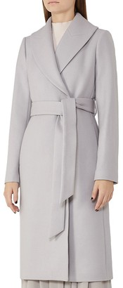 REISS Cody Belted Long Coat $620 thestylecure.com