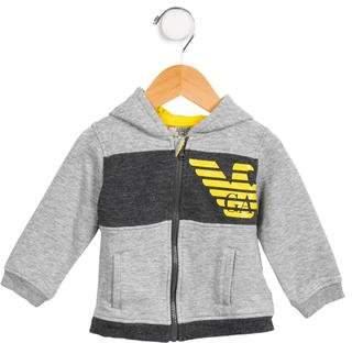 Armani Junior Boys' Hooded Zip-Up Sweatshirt