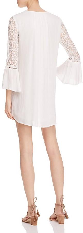 En Créme Lacy Bell Sleeve Dress 2