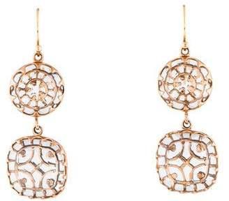 Laurent Gandini Rock Crystal Quartz Lace Drop Earrings