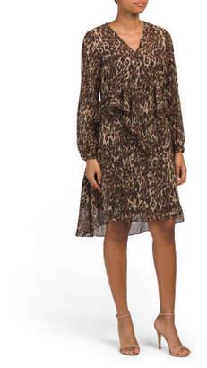 Adam Leopard Print Dress