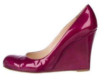 Christian Louboutin Patent Leather Wedge Pumps