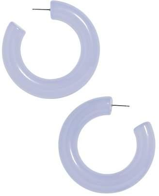 BaubleBar Petrina Lucite Hoop Earrings