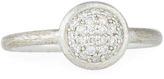 Jude Frances Small Round Pave Diamond Ring, Size 6.5