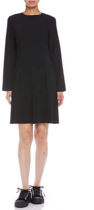 Maison Margiela (メゾン マルジェラ) - Maison Margiela MM6 ジップポケット 長袖ドレス ブラック 40