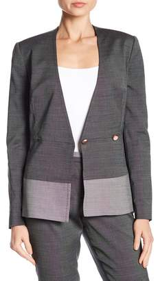 Ted Baker Contrast Peplum Double Breasted Jacket