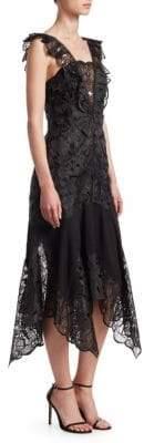 Jonathan Simkhai Organza Flutter Sleeve Midi Dress