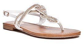 GByGUESS G By Guess Women's Shay Rhinestone T-Strap Sandals $29.99 thestylecure.com