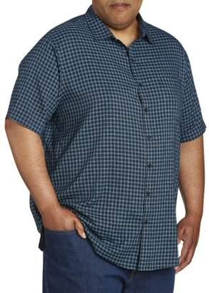 Canyon Ridge Men's Big and Tall Short Sleeve Pattern Microfiber Shirt, up to 7XL