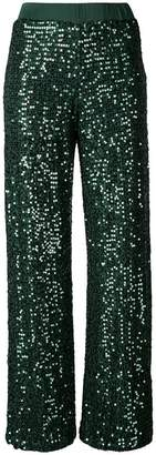 P.A.R.O.S.H. flared sequin trousers