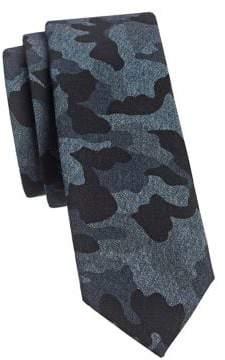 Joe's Jeans Camouflage Silk Slim Tie