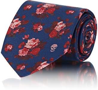 Alexander McQueen Men's Floral Silk Necktie