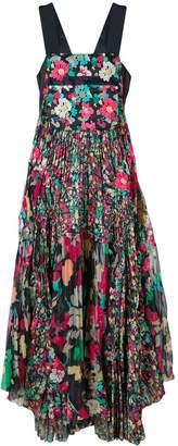 Sacai floral pleated dress