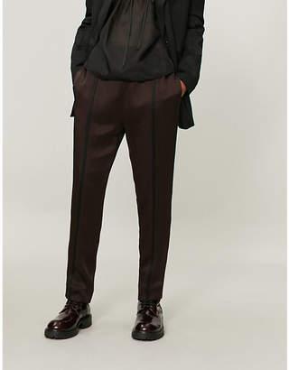 Haider Ackermann Tapered satin trousers