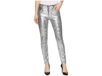 AG Adriano Goldschmied Farrah Skinny Ankle in Iced Silver
