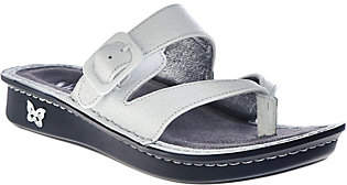 Alegria Leather Thong Sandals w/ Strap Detail -Valentina