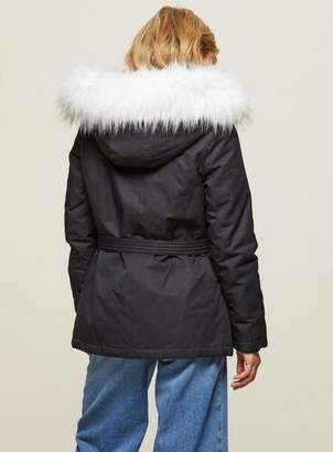 Miss Selfridge Petite navy parka